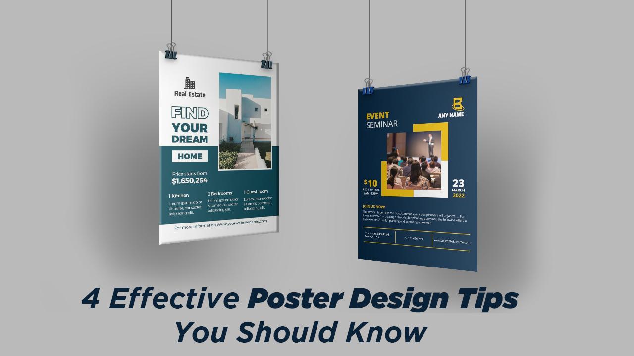 4 Effective Poster Design Tips